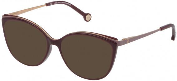 CH Carolina Herrera VHE783 sunglasses in Shiny Full Plum