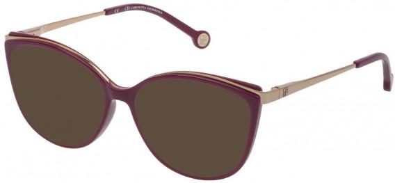 CH Carolina Herrera VHE783 sunglasses in Shiny Cyclamen