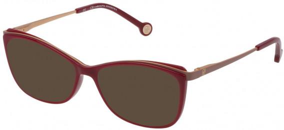 CH Carolina Herrera VHE782 sunglasses in Shiny Dark Red