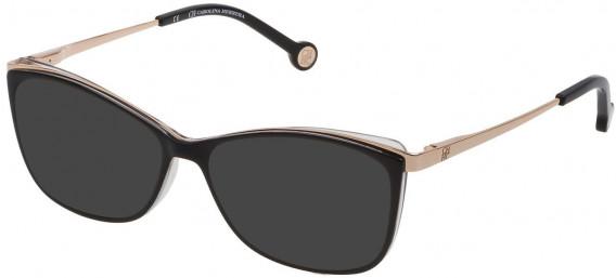 CH Carolina Herrera VHE782 sunglasses in Shiny Black