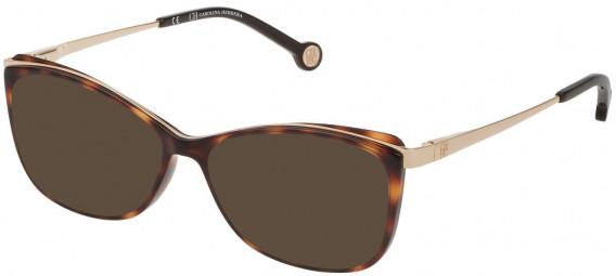 CH Carolina Herrera VHE782 sunglasses in Shiny Dark Havana