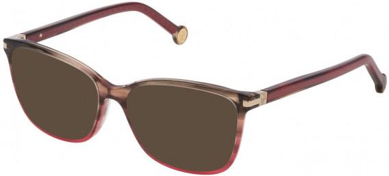 CH Carolina Herrera VHE775 sunglasses in Shiny Striped Olive/Pink