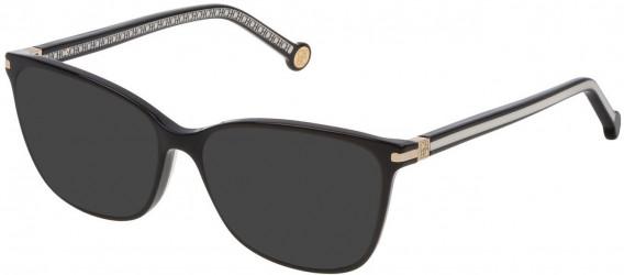 CH Carolina Herrera VHE775 sunglasses in Shiny Black