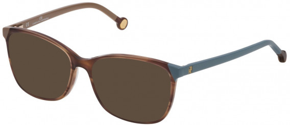 CH Carolina Herrera VHE773 sunglasses in Shiny Striped Beige
