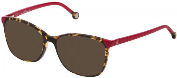 CH Carolina Herrera VHE773 sunglasses in Shiny Yellow Havana