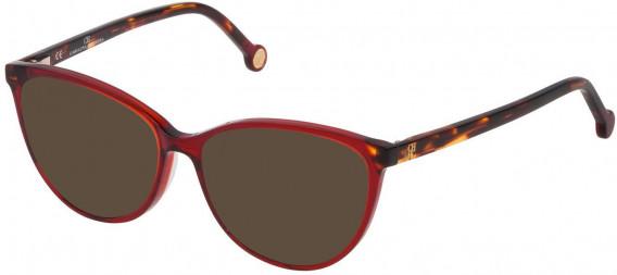 CH Carolina Herrera VHE772 sunglasses in Shiny Transparent Red