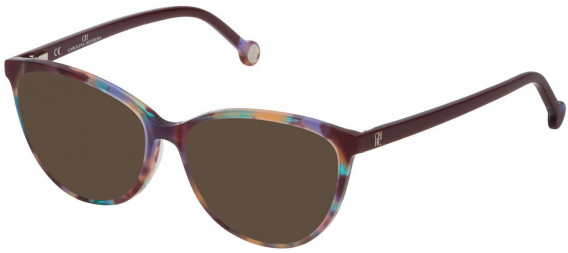 CH Carolina Herrera VHE772 sunglasses in Shiny Violet/Green/Brown Havana