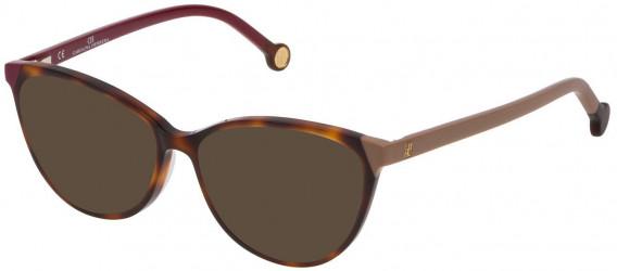 CH Carolina Herrera VHE772 sunglasses in Shiny Dark Havana
