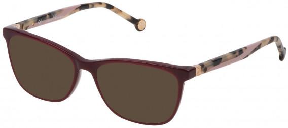CH Carolina Herrera VHE771 sunglasses in Shiny Plum