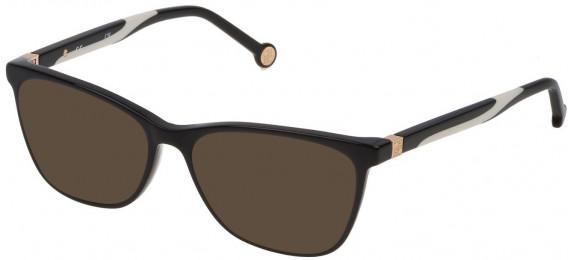 CH Carolina Herrera VHE771 sunglasses in Shiny Black