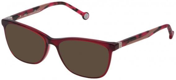 CH Carolina Herrera VHE771 sunglasses in Shiny Transparent Red