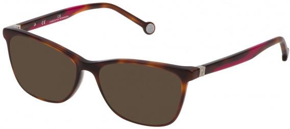 CH Carolina Herrera VHE771 sunglasses in Shiny Dark Havana
