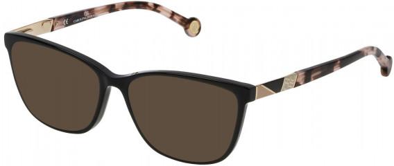 CH Carolina Herrera VHE761 sunglasses in Shiny Black