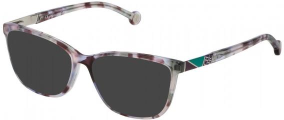 CH Carolina Herrera VHE761 sunglasses in Shiny Liliac Havana