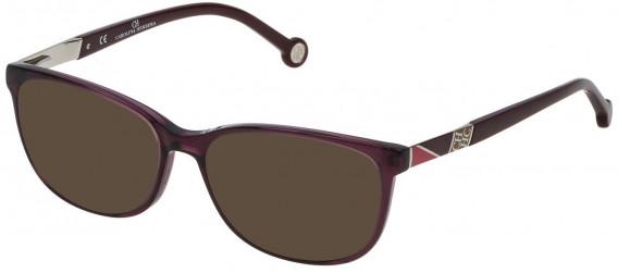CH Carolina Herrera VHE760 sunglasses in Shiny Transparent Plum