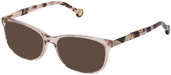 CH Carolina Herrera VHE760 sunglasses in Shiny Transparent Beige