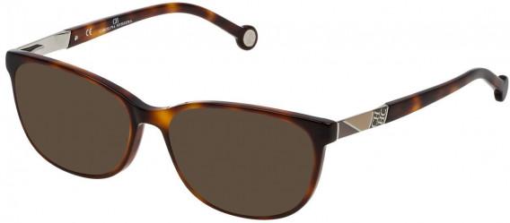 CH Carolina Herrera VHE760 sunglasses in Shiny Dark Havana