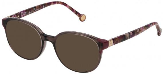 CH Carolina Herrera VHE740 sunglasses in Shiny Dark Brown