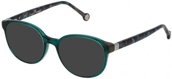 CH Carolina Herrera VHE740 sunglasses in Transparent Petroleum Green