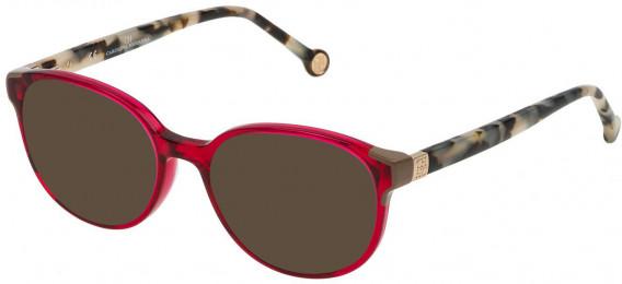 CH Carolina Herrera VHE740 sunglasses in Shiny Transparent Red