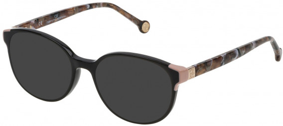 CH Carolina Herrera VHE740 sunglasses in Shiny Black