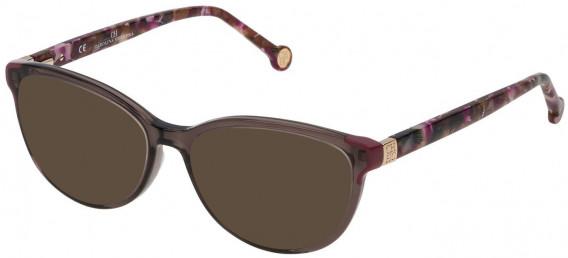 CH Carolina Herrera VHE739 sunglasses in Shiny Dark Brown