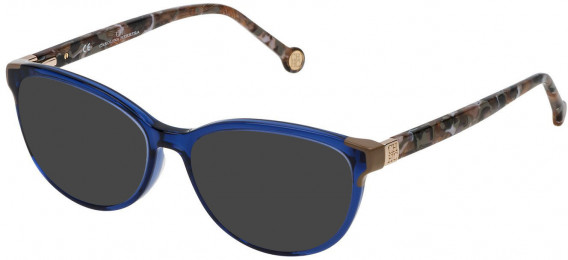 CH Carolina Herrera VHE739 sunglasses in Shiny Transparent Blue