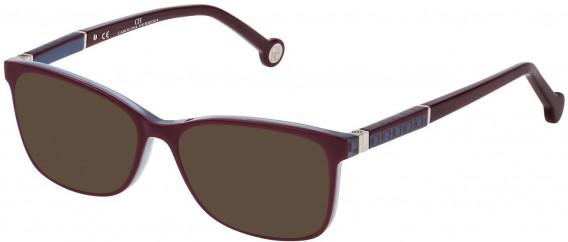 CH Carolina Herrera VHE733L sunglasses in Red Top/Azure