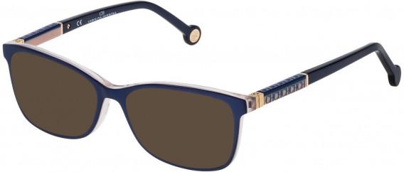 CH Carolina Herrera VHE733L sunglasses in Shiny Blue/Violet/Opal Rose