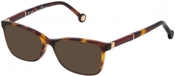 CH Carolina Herrera VHE733L sunglasses in Shiny Dark Havana