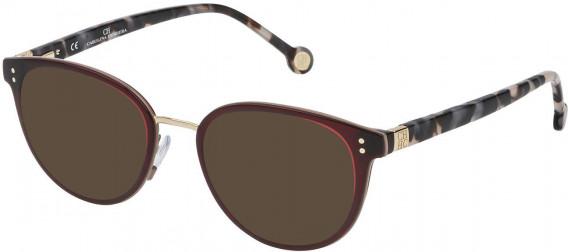 CH Carolina Herrera VHE727 sunglasses in Shiny Transparent Red