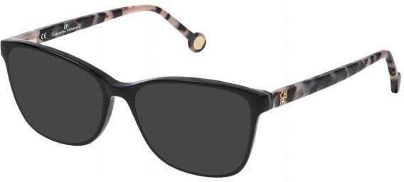 CH Carolina Herrera VHE717 sunglasses in Shiny Black