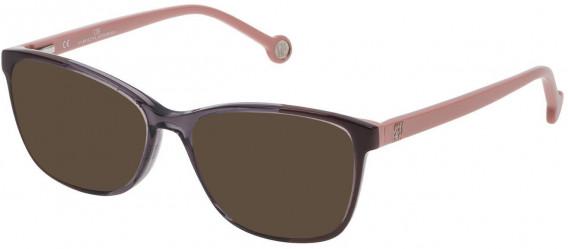 CH Carolina Herrera VHE717 sunglasses in Shiny Dark Grey