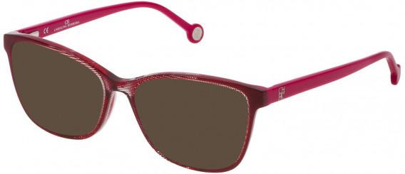 CH Carolina Herrera VHE717 sunglasses in Shiny Bordeaux Grisaille