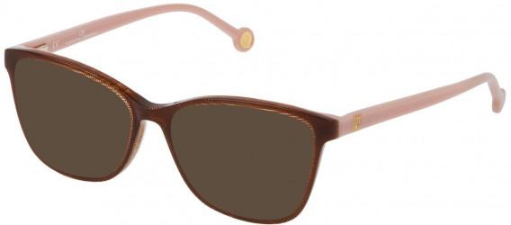 CH Carolina Herrera VHE717 sunglasses in Shiny Blue Grisaille