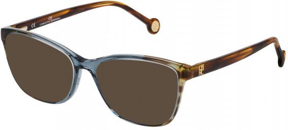 CH Carolina Herrera VHE717 sunglasses in Shiny Water Green