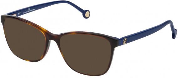 CH Carolina Herrera VHE717 sunglasses in Shiny Dark Havana