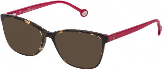 CH Carolina Herrera VHE717 sunglasses in Shiny Yellow Havana