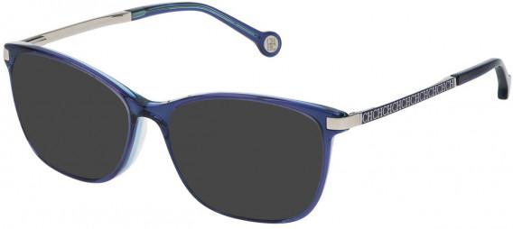 CH Carolina Herrera VHE714 sunglasses in Blue Top/Transparent Azure
