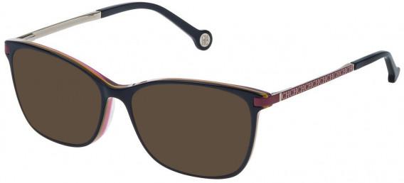CH Carolina Herrera VHE714 sunglasses in Shiny Blue/Violet