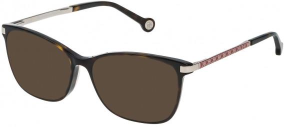 CH Carolina Herrera VHE714 sunglasses in Shiny Dark Havana