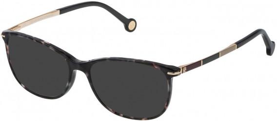 CH Carolina Herrera VHE670 sunglasses in Shiny Grey Havana