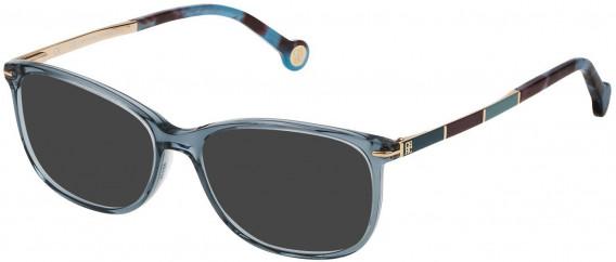 CH Carolina Herrera VHE670 sunglasses in Shiny Water Green