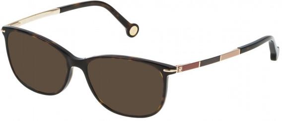 CH Carolina Herrera VHE670 sunglasses in Shiny Dark Havana