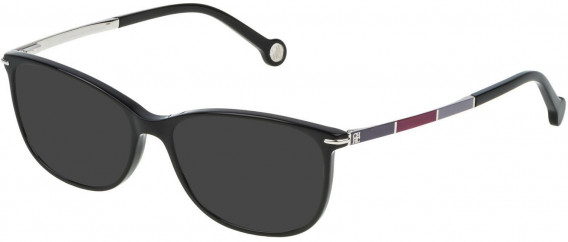 CH Carolina Herrera VHE670 sunglasses in Shiny Black