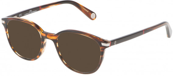 CH Carolina Herrera VHE666 sunglasses in Shiny Striped Havana