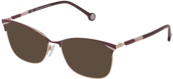 CH Carolina Herrera VHE154 sunglasses in Shiny Red Gold