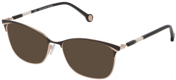 CH Carolina Herrera VHE154 sunglasses in Shiny Rose Gold