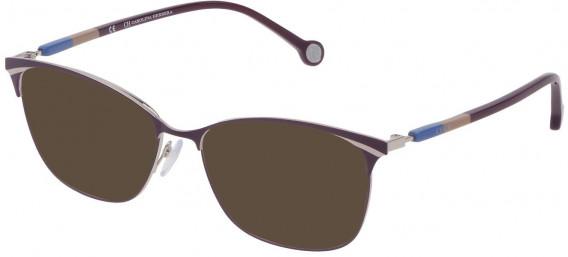 CH Carolina Herrera VHE154 sunglasses in Shiny Palladium