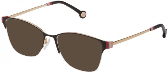 CH Carolina Herrera VHE137 sunglasses in Shiny Rose Gold/Black